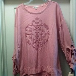 Nwt 1X Democracy high low lite wt tunic sweatshirt